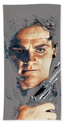 Film Homage Close-up James Cagney Angels With Dirty Faces 1939-2014 Beach Towel