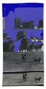 Film Homage Dirty Dingus Magee Collage Number 1 1970-2012 Mescal Arizona Beach Towel