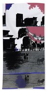 Film Homage Dirty Dingus Magee Collage Number 2 1970-2012 Mescal Arizona Beach Towel