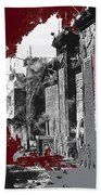 Film Homage D.w. Griffith Intolerance 1916 Fall Of Babylon 1916-2012  Beach Towel