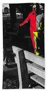 Film Homage Elmer Gantry 2 1960 Street Preacher Armory Park Tucson Arizona Beach Towel