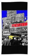 Film Homage Embassy Newsreel Theater 1940 Times Square New York City 2008 Beach Towel