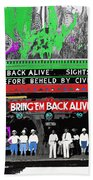 Film Homage Frank Buck Bring 'em Back Alive 1932 Collage Fox Tucson  Arizona 1932-2011 Beach Towel