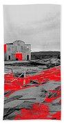 Film Homage High Plain Drifter 1973 Monte Walsh Set Windstorm Mescal Arizona 1969-2012 Beach Towel by David Lee Guss