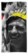 Film Homage Jean-paul Belmondo  Fake Indian Bonnet Love Is A Funny Thing  Old Tucson Az 1969-2008 Beach Towel