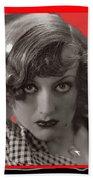Film Homage Joan Crawford Louis Milestone Rain 1932 Collage Color Added 2010 Beach Towel