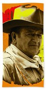 Film Homage John Wayne Andy Warhol Inspired Rio Lobo Variation 1 Old Tucson Arizona 1970-2009 Beach Towel