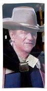 Film Homage John Wayne The Man From Monterey 1933 Cardboard Cut-out Window Tombstone Arizona 2004  Beach Towel