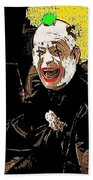 Film Homage Lon Chaney He Who Gets Slapped 1924 Color Added 2008 Beach Towel