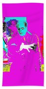 Film Homage Lon Chaney The Phantom Of The Opera 1925 Color Added 2008 Beach Towel