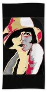 Film Homage Louise Brooks In Flapper Hat 1927-2013 Beach Towel