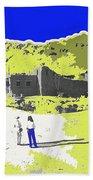 Film Homage Old Tucson Arizona In The Mid 1940's Beach Towel