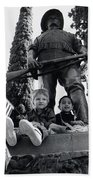 Film Homage Tearing Down The Spanish Flag 1898 Veteran's Day Parade 1984 Armory Park Tucson Beach Towel