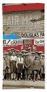 Film Homage The Air Mail  Leader Theater Washington D.c. 1925-2010 Beach Towel