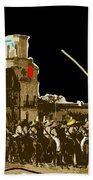 Film Homage The Gay Desperado Set San Xavier Mission Tucson Arizona 1936-2008 Beach Towel