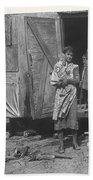 Film Homage The Grapes Of Wrath 1 1940 Family In Shack Perhaps Eloy Arizona 1940-2008 Beach Towel