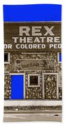 Film Homage The New Adventures Of Tarzan 1935 1935/1937-2010 Rex Theater Leland Mississippi Beach Towel