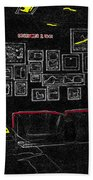Film Homage Tora Tora Tora 1970 Uss Arizona Memorial U Of A 1985-2008 Beach Towel