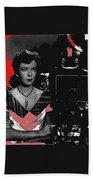 Film Noir Director Ida Lupino Color Added 2012 Beach Towel