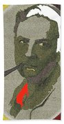 Film Noir Mystery Writer Raymond Chandler Vignetted Texture Color Added 2013 Beach Towel