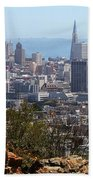 Financial District From Corona Heights Beach Towel
