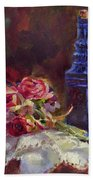 Finer Things Still Life By Karen Whitworth Beach Towel