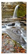 Finger Lakes Waterfall Beach Towel