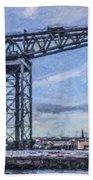 Finnieston Crane Glasgow Beach Towel