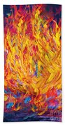 Fire And Passion - Here's To New Beginnings Beach Towel