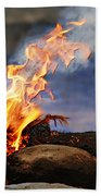 Fire And Smoke Beach Towel