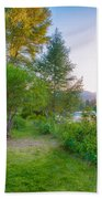 Fire And Water At Cottonwood Cottage Beach Towel