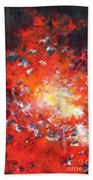 Fire Blazing In The Sky Beach Towel