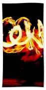 Fire Dancer 4 Beach Towel