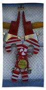 Fire Department Christmas 3 Beach Towel