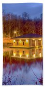 Fire Department Rescue Building On Water Beach Towel