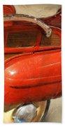Fire Engine Pedal Car Beach Towel