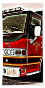 Fire Engine Red Beach Towel