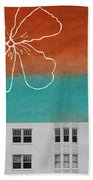 Fire Escapes Beach Towel by Linda Woods