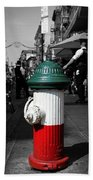 Fire Hydrant From Little Italy Beach Towel