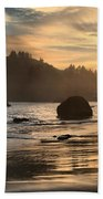 Fire In The Sand Beach Towel by Adam Jewell