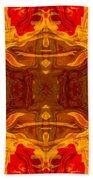 Fire In The Sky Abstract Pattern Artwork Beach Towel