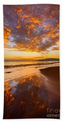 Fire Over Lahaina Beach Towel