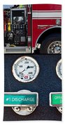 Fire Truck With Isolated Views Beach Towel