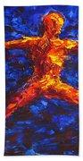 Fire Warrior Beach Towel