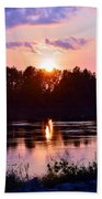 Fire Water Beach Towel