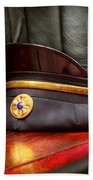 Firefighter - Hat - The Ex Chiefs Hat Beach Towel by Mike Savad