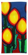 Fireflowers Beach Towel