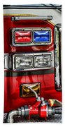 Fireman - Fire Engine Beach Towel by Paul Ward