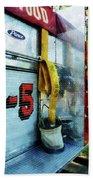 Fireman - Hose In Bucket On Fire Truck Beach Towel