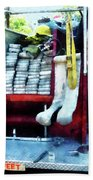 Fireman - Hoses On Fire Truck Beach Towel
